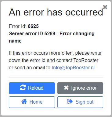 Topulus Blazor Error App Logger